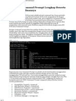 Perintah CMD Lengkap Beserta Contoh Penulisannya