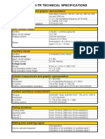 Technical Specifications Pme 500 Tr