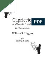[Clarinet_Institute] Higgins, William R. - Capriccio on a Theme by Prokofieff