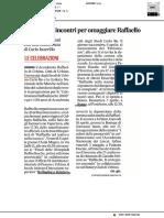 Olimpiadi e incontri per omaggiare Raffaello - Il Corriere Adriatico del 27 marzo 2019