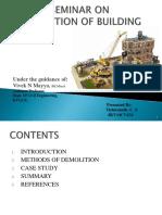 Demolition of Building Presentation