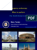 Prof Manu Tandan - Emergency Endoscopy Indonesia 2018