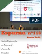 Butlletí informatiu de prevenció d'incendis forestals - Espurna gener 2019