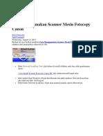 Cara Menggunakan Scanner Mesin Fotocopy Canon