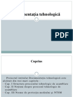 Documentația tehnologică