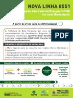 Nova Linha 8551 - São Gabriel-Ufmg - Via Anel Rodoviario_FOLHETO