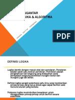 1 - Pengantar Logika & Algoritma