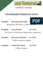 calendario pasqua12019