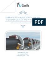 Overview and characteristic of pipe conveyor systems and applications