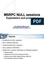Msrpc Null Sessions