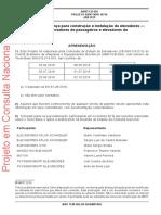 ABNT ISO 16756 - Instalação de Elevadores