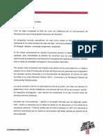 Carta de Jordi Sànchez als caps de llista del 28-A