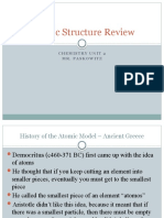 Atomic Structure Review