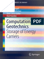 Computational Geotechnics Storage of Energy Carriers