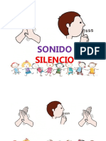 sonido/silencio discriminación.