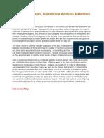 Addressing Issues Stakeholder Analysis Mandate