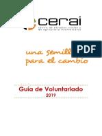 Guía de Voluntariado CERAI 2019