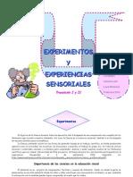 Experimentos y Experiencias Sensoriales