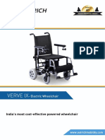 Verve-LX wheelchair brochure