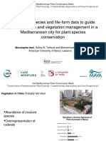 Employing species and life-form data to guide planting design and vegetation management in a Mediterranean city for plant species conservation