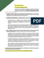 Concernant le protocole d'accord de 2015