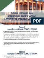 DIPLOMACIA - Os 7 Primeiros Passos Concretos Para COMEÇAR SUA PREPARAÇÃO PARA O CACD