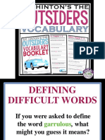 the outsiders vocabulary in context