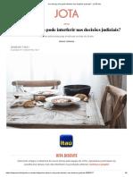 Artigo - Bruno Torrano - Um Almoço Ruim Pode Interferir Nas Decisões Judiciais_ - JOTA Info