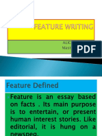 FEATURE WRITING 1.ppt