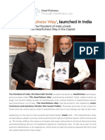 The Heartfulness Way Press Release Jan 2018