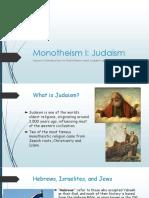 Monotheism I - Judaism