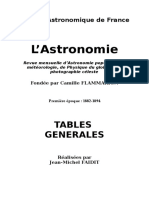 Tables l'Astronomie