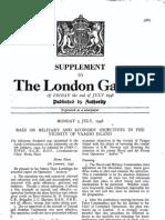 Vaagso Raid - London Gazette