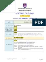 Academic Calendar (Degree) Sept 2017 (130917)