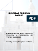 Identidad Regional de Pacora