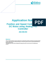 An-cm-250 Position and Speed Control of a Dc Motor Using Analog Pid Controller