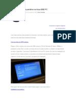Instalando o XP via Pendrive No Asus EEE PC