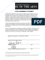 Application Agreement Statement Fillable