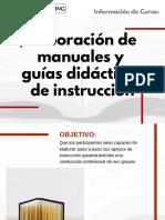 Curso Elaboración de Manuales y Guías Didácticas de Instrucción