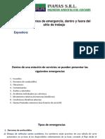 Procedimientos de Emergencia, Dentro y Fuera Del Sitio de Trabajo.