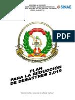Plan de Reducción de Desastres2019