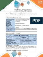 Guía de actividades y Rubrica de evaluación - Paso 2 - Elaborar el proceso administrativo en una empresa como estudio de caso.docx