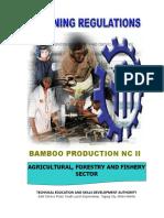 BAMBOO PRODUCTION NC II