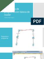Programación básica de router