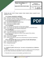 Devoir de Synthèse N°3- SVT - 1ère AS (2015-2016) Mme El Bsir Zina