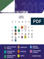 Calendário Abril 2019