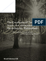 The Excellence of Tawheed From the Statements of Ibn Al-Qayyim