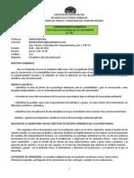 Programa Comportamiento Ambiental CCY351 Abril-Jul 2018
