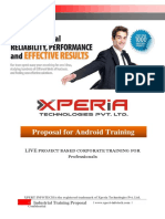 5 Days Android Project Based Corporate Training Proposal