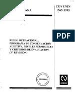 RO - Protocolo Para Ruido Ocupacional - Chile
